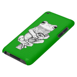 Fun Frog Cartoon Designs for frog-lovers iPod Case-Mate Case