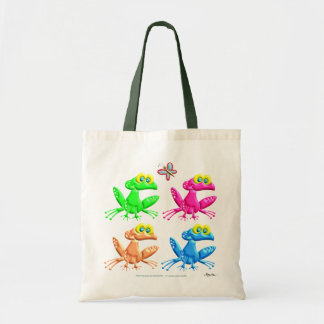 Fun Frogs Tote Bag
