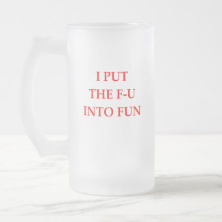 FUN FROSTED GLASS BEER MUG
