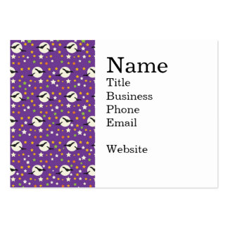 Fun Full Moon with Spooky Bats and Fun Stars Large Business Cards (Pack Of 100)