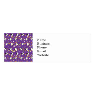 Fun Full Moon with Spooky Bats and Fun Stars Business Card Templates