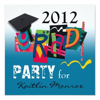 Fun & Funky 2012 Grad Party Invitation