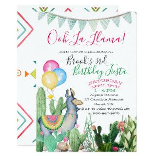 Fun & Funky Llama Party Card