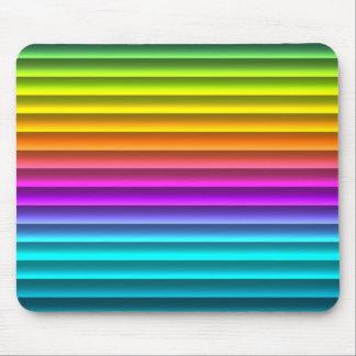 Fun Funky Modern Rainbow Stripes Pattern Mouse Pad