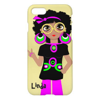 Fun Funky Psychedelic Hippy Chick iPhone 7 Case