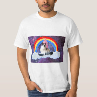 Fun Galaxy Rainbow Princess Skateboard Shirt Mens