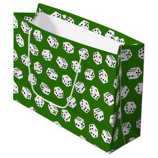 Fun Gambling Casino dice pattern party bag