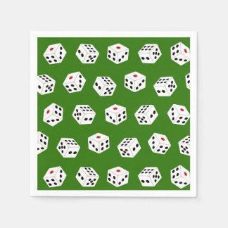 Fun Gambling dice Casino pattern party napkins