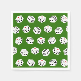 Fun Gambling dice Casino pattern party napkins Disposable Napkins