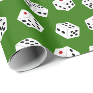 Fun Gambling Dice pattern party wrapping paper