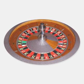 Fun Gambling roulette wheel sticker oval