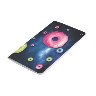Fun Geek Outer Space Galaxy Donuts Journal