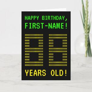 Fun Geeky Nerdy 88 YEARS OLD Birthday Card