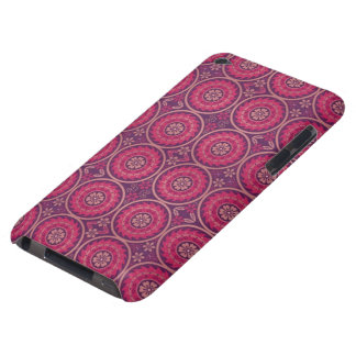 Fun Geometric Floral in Pink and Purple Barely There iPod Cases