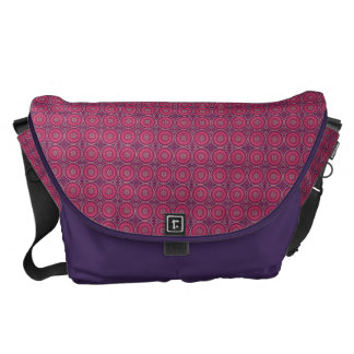 Fun Geometric Floral in Pink and Purple Messenger Bags