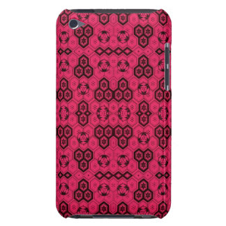 Fun Geometric Pattern Bold Pink and Black Barely There iPod Cover