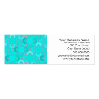 Fun Geometric Pattern in Shades of Turquoise Business Card