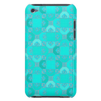 Fun Geometric Pattern in Shades of Turquoise Barely There iPod Cover