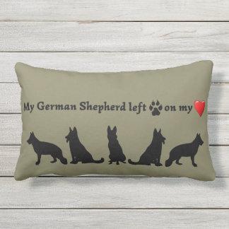 Fun German Shepherd Dog  Pet Quote Outdoor Pillow