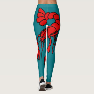 Fun giant red crawfish leggings