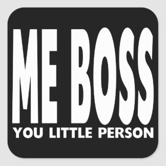 Fun Gifts for Bosses : Me Boss You Little Person Square Sticker