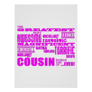 Fun Gifts for Cousins Greatest Cousin Print