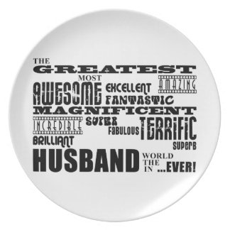 Fun Gifts for Husbands : Greatest Husband Dinner Plate