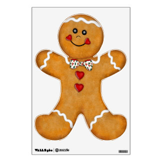 Fun Gingerbread Man Wall Decal