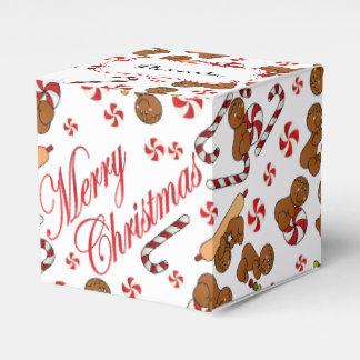 Fun Gingerbread Men Party Favor Boxes