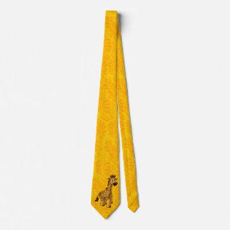 Fun GIRAFFE cartoon tie for men