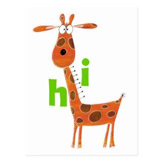 Fun Giraffe Postcard