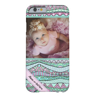 Fun Girly Geometric Pastel Pattern Barely There iPhone 6 Case