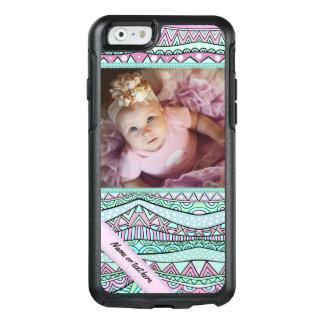 Fun Girly Geometric Pastel Pattern OtterBox iPhone 6/6s Case
