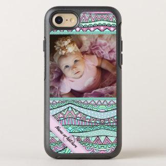Fun Girly Geometric Pastel Pattern OtterBox Symmetry iPhone 7 Case
