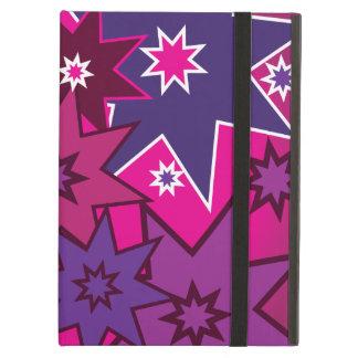 Fun Girly Pink Purple Star Pattern iPad Case