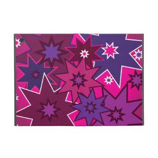 Fun Girly Pink Purple Star Pattern Cover For iPad Mini
