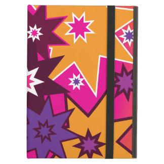 Fun Girly Star Pattern Pink Orange Purple iPad Cases