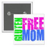 Fun Gluten Free Mom Art Pin