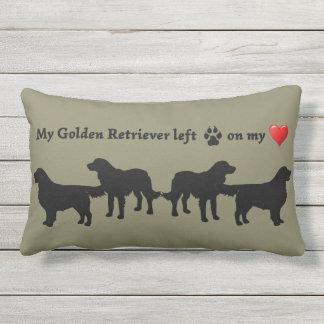 Fun Golden Retriever Dog Pet Quote Outdoor Pillow