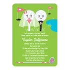 Fun Golf Ball and Tee Bride Groom Bridal Shower Card