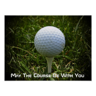 Fun Golf Poster! Great For The Golfer! Poster
