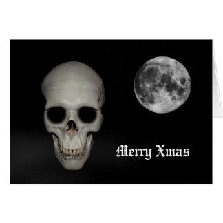 Fun gothic skull Christmas Card