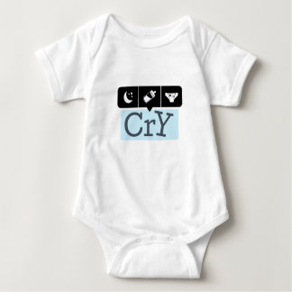 Fun graphics for handling baby cry baby bodysuit