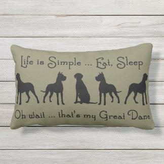 Fun Great Dane Dog Pet Quote Outdoor Pillow