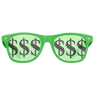 Fun Green Dollar Sign Party Party Sunglasses