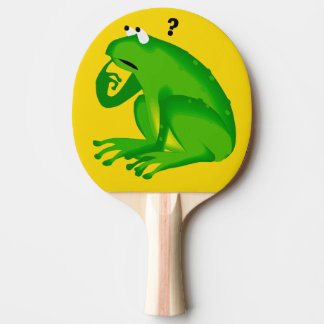 Fun Green Frog Design Ping Pong Paddle