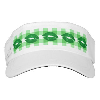 Fun Green Irish Kisses Saint Patrick's Day Visor