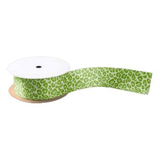 Fun Green Leopard Print Ribbon Satin Ribbon