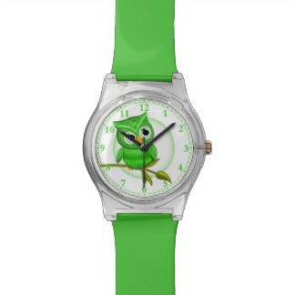 Fun Green Owl Wrist Watch #Accessory #Watches