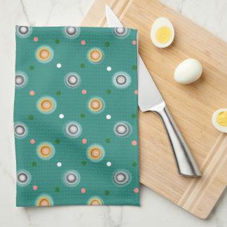 Fun Green Polka Dots Kitchen Towel